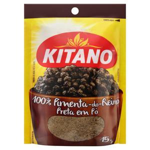 Pimenta-do-Reino em Pó Preta Kitano Pacote 15g