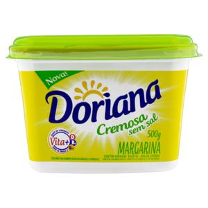 Margarina Cremosa sem Sal Doriana Pote 500g