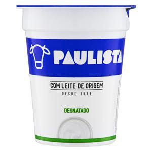 Iogurte Desnatado Zero Lactose Paulista Pote 170g