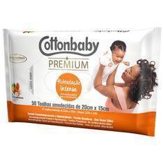 Toalhas umidecidas Cottonbaby  Hidratação Intensa 50Un