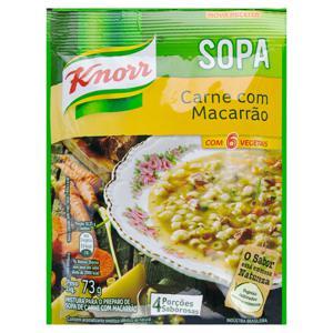 Sopa com Macarrão Carne Knorr Sachê 73g