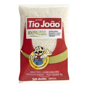 Arroz Polido Tipo 1 Tio João 100% Grãos Nobres Pacote 1kg
