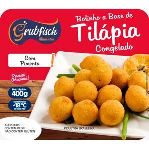 Bolinho de Tilapia Artesanal com pimenta Aprox.400g - GrubFisch