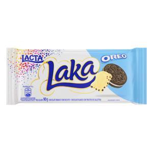 Chocolate Branco Biscoito Oreo Lacta Laka Pacote 90g