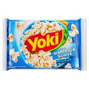 Pipoca para Micro-Ondas Manteiga Suave Yoki Pacote 100g