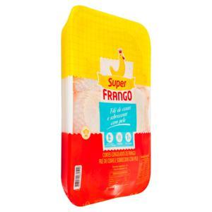Filé de Coxas e Sobrecoxas de Frango com Pele Congelado SUPERFRANGO 1kg