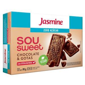 Biscoito Jasmine Sou Sweet Zero Açúcar Choc/Gotas 90G