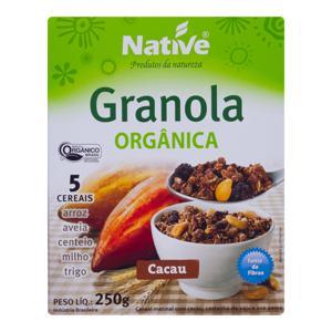 Granola orgânica Native sabor cacau - 250 g