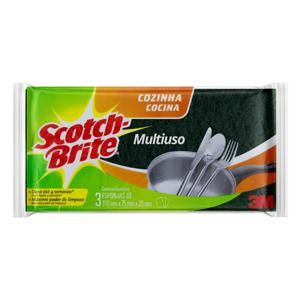 Esponja Multiuso Cozinha Scotch-Brite 3 Unidades