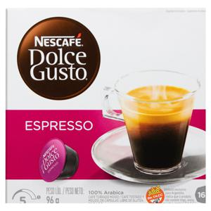 Café em Cápsula Torrado e Moído Espresso Nescafé Dolce Gusto Caixa 96g 16 Unidades