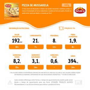 Pizza Seara Mussarela 440g