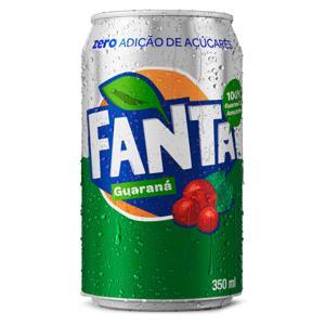 Refrigerante Guaraná Zero FANTA 350ml