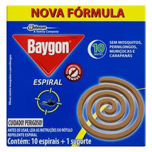 Repelente Espiral Baygon Caixa 10 Unidades