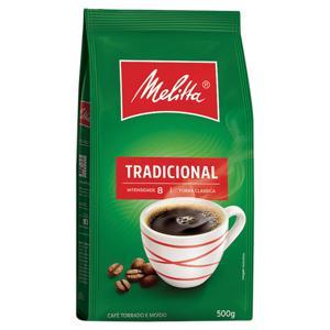 Café Torrado e Moído Tradicional Melitta Pacote 500g