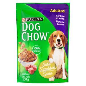 Alimento para Cães Adultos Cordeiro ao Molho Purina Dog Chow Sachê 100g