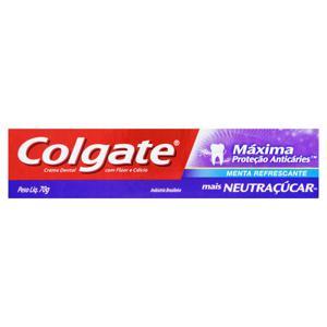 Creme Dental Menta Refrescante Colgate Máxima Proteção Anticáries Caixa 70g