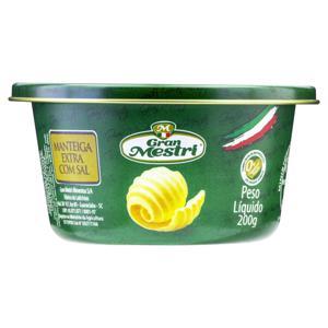Manteiga Extra com Sal Gran Mestri Lata 200g