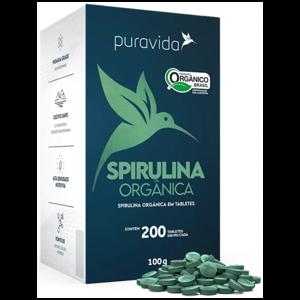Spirulina Orgânica 100g (200 Tabletes) - Puravida