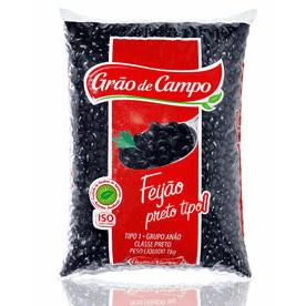 Feijao Grão de Campo Preto 1kg