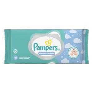 Lenço Umedecido Cheirinho de Bebê Pampers Pacote 48 Unidades