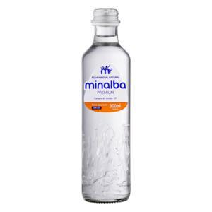 Água Mineral Natural com Gás Minalba Premium Garrafa 300ml