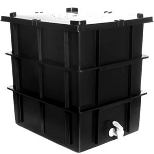 Composteira Doméstica com Minhocas, Matéria Seca e Manual - Fábrica de Hortas