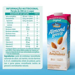 Bebida de Amêndoas Almond Breeze Zero Açúcar 1L