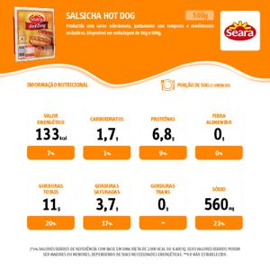 Salsicha Hot Dog 500G Seara