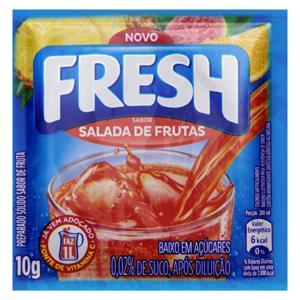 Refresco em Pó Salada de Frutas Fresh Pacote 10g