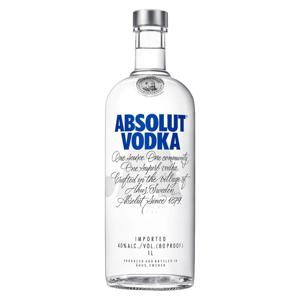 Vodka Destilada Absolut Garrafa 1l