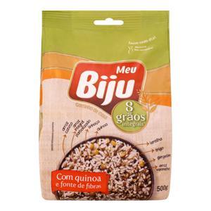 Arroz 8 Grãos com Quinoa Integral Meu Biju Pacote 500g