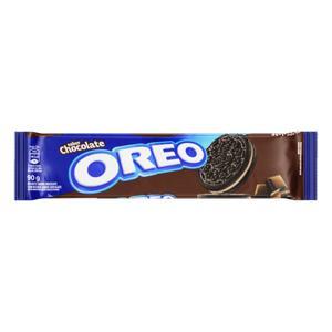 Biscoito Chocolate Recheio Chocolate Oreo Pacote 90g