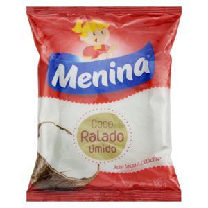 Coco Ralado Úmido Adoçado Menina Pacote 100g