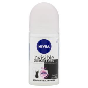 Desodorante Roll-On Nivea Invisible for Black & White Clear 50ml