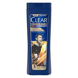 Shampoo 400ml Clear anti-caspa Sport Limpeza profunda