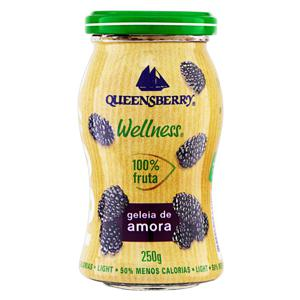 Geleia 100% Fruta Amora Light Queensberry Wellness Vidro 250g