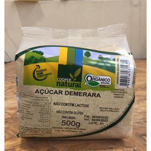 Açúcar demerara 500g - Coopernatural