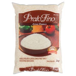 Arroz Branco Tipo 1 Prato Fino Pacote 1kg
