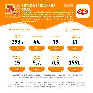 Menu Gourmet SEARA Fetuccine à Bolonhesa 350g