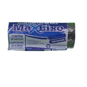 Saco para Lixo MAXLIXO Roll Azul 50L com 20 Unidades