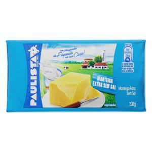 Manteiga Extra sem Sal Paulista 200g