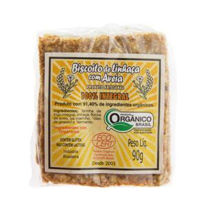Biscoito de Linhaça com Aveia 100% Integral (100g)
