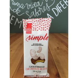 Cups de Castanha de Caju Com Chocolate Ao Leite Sem Açúcar 40g SIMPLE