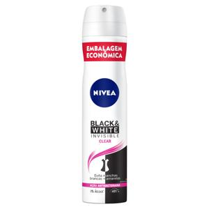 Antitranspirante Aerossol Nivea Invisible for Black & White Clear 200ml Embalagem Econômica