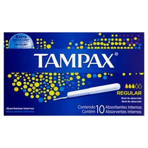 Absorvente Interno Extra Proteção Regular Tampax Caixa 10 Unidades