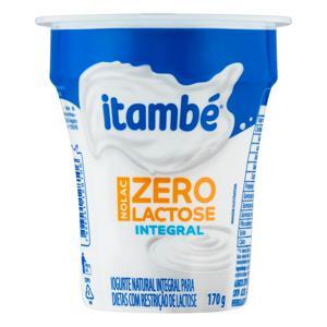 Iogurte Integral Natural Zero Lactose Itambé Nolac Copo 170g