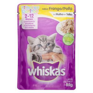 Alimento para Gatos Filhotes Frango ao Molho Whiskas Sachê 85g