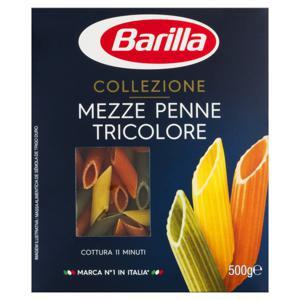 Macarrão de Sêmola Tricolor com Vegetais Penne Barilla Mezze Caixa 500g
