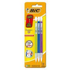 Lapiseira Recarregável Colorida 0,7mm Bic Shimmers 3 Unidades Grátis 1 Lapiseira