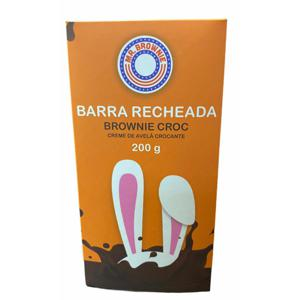 Barra de chocolate recheada com Brownie e Croc 200g